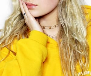 lip gloss, silver ring, and gold choker necklace image