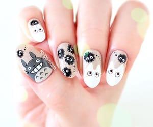 nails, nail art, and totoro image