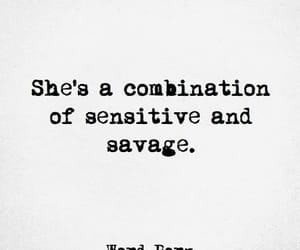 quotes, savage, and sensitive image