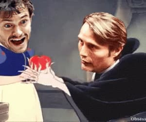 gif, snow white, and hannibal lecter image