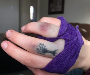 bandages, bruised, and knuckles image