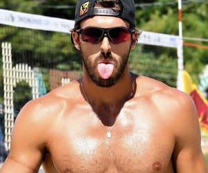 bearded, hot guys, and pecs image