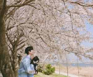 asian, flowers, and kfashion image