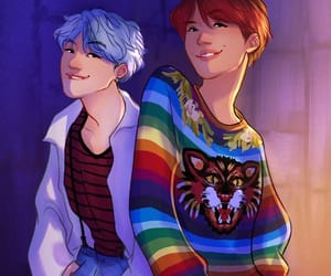 bts, DNA, and fanart image