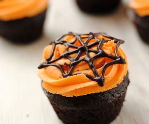 autumn, cupcake, and spider image