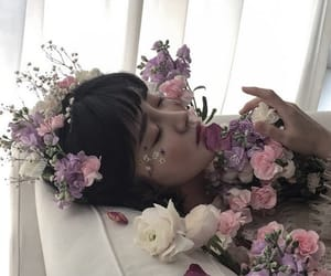 flowers, korea, and girl image