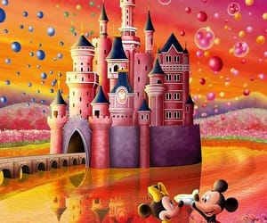 mickey, minnie, and wallpaper image
