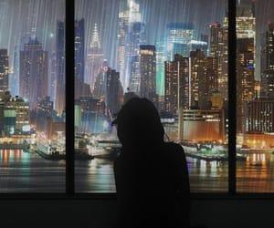 good night, scene, and raining image