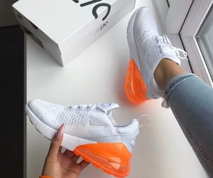 fashion, nike, and orange image
