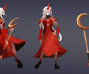 red, league of legends, and soraka image