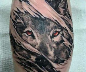 art, tatoo, and wolf eyes image