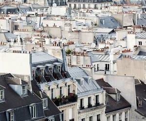 city, paris, and house image