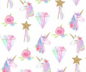 unicorn, diamond, and stars image