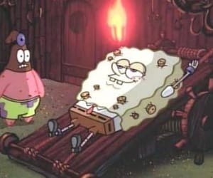 patrick, torture, and spongebob image