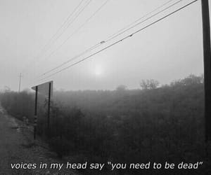 dead, voice, and sad image