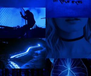 aesthetic, blonde, and blue image
