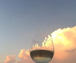 drink, sky, and clouds image
