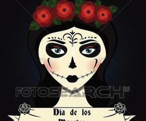 dia de los muertos, Frida, and draw image