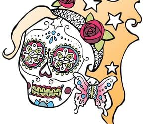 dia de los muertos and draw image
