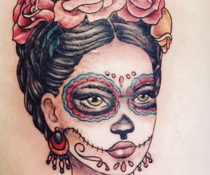 frida kahlo, make up, and tatouage image