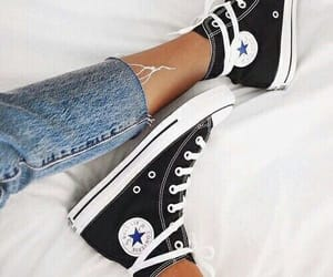 converse, shoes, and denim image