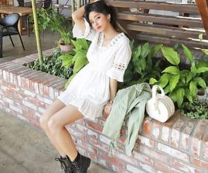 casual, korean girl, and korean outfit image