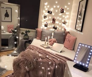 bedroom, decor, and light image