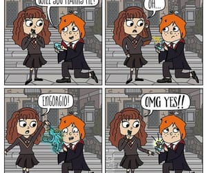 harry potter, ron, and romione image