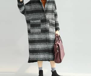 etsy, wool coat, and maxi coat image