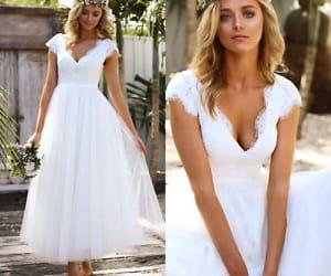 vintage wedding dress and bridal dress image