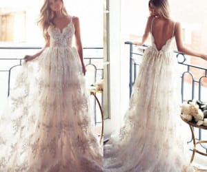 bridal dress and beach wedding dress image