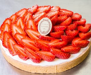 cake, cream, and food image