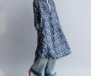 etsy, loose shirt, and women clothing image