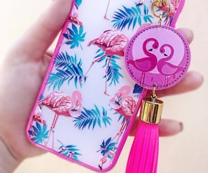 case, flamingo, and pink image