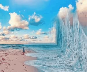 alone, gif, and ocean image