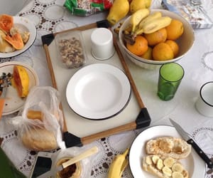 bananas, breakfast, and fruit image