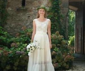 boho wedding dress image
