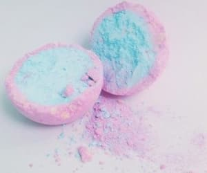 blue, pink, and aestathic image