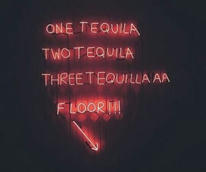 neon, light, and tequila image