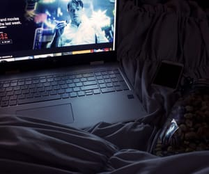 bed, netflix, and comfy image