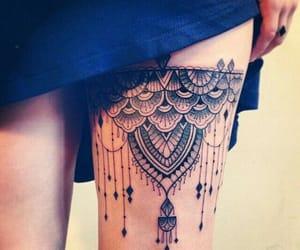 tattoo, sexy, and leg image