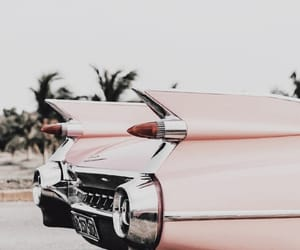 car, pink, and vintage image