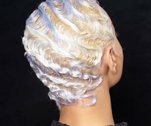 hair, finger waves, and hairstyle image