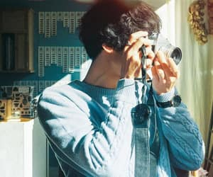 asian, blue, and camera image