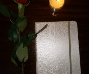 candle, dairy, and journals image