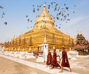 buddhism, buddhist temple, and myanmar image