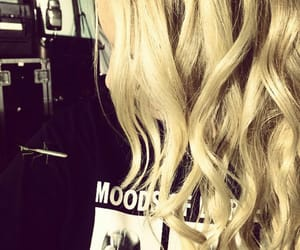 blonde, dart, and curly image