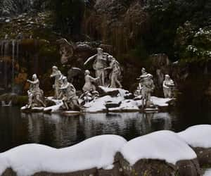 art, reggia di caserta, and snow image