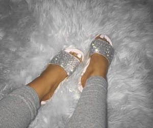 fashion, shoes, and slides image