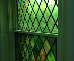 green, windows, and stained glass image